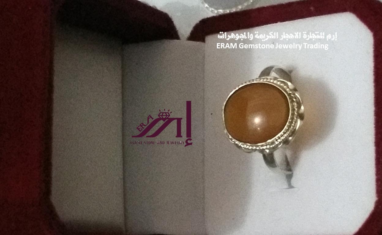 خواتم عقيق نسائي بني طبيعي 100 Agate الموديل الرابع Gemstone Jewelry Gemstones Gemstone Rings