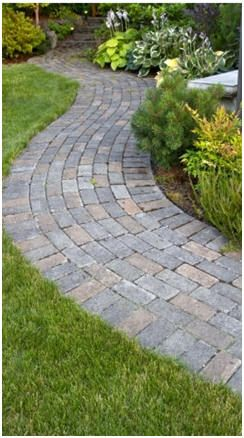 Build Garden Paths And Landscape Walks Just Click To Print And Follow Free Diy Guides Brick Paver Patio Backyard Landscaping Easy Backyard