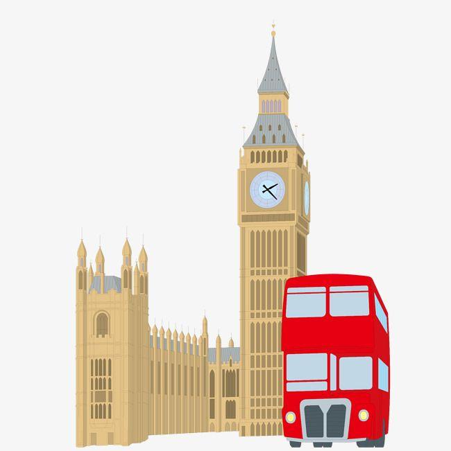 Big Ben London Bus Creatives Png And Vector Big Ben Drawing London Illustration Big Ben