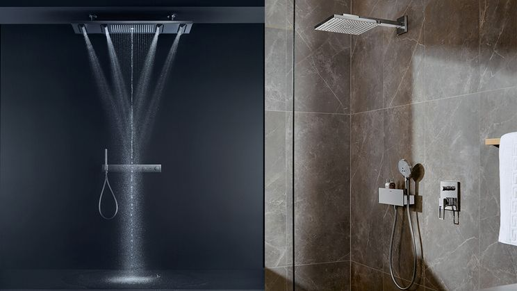 Ordinaire AXOR ShowerHeaven And Hansgrohe Shower Set