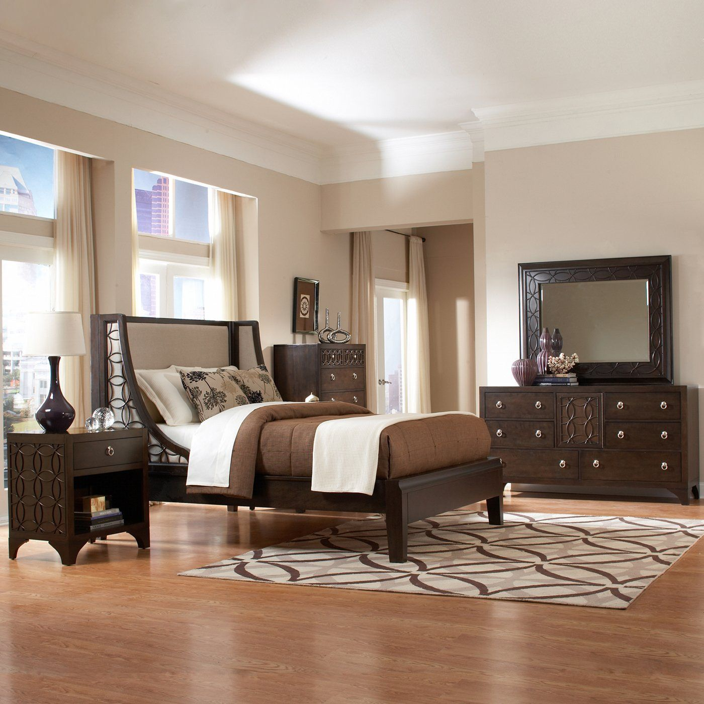 Master bedroom headboard design ideas  Like the shape of this headboard  For the Home  Pinterest