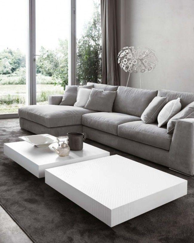 Tavolini da salotto davanti al divano ideabook home - Tavolini da divano ...