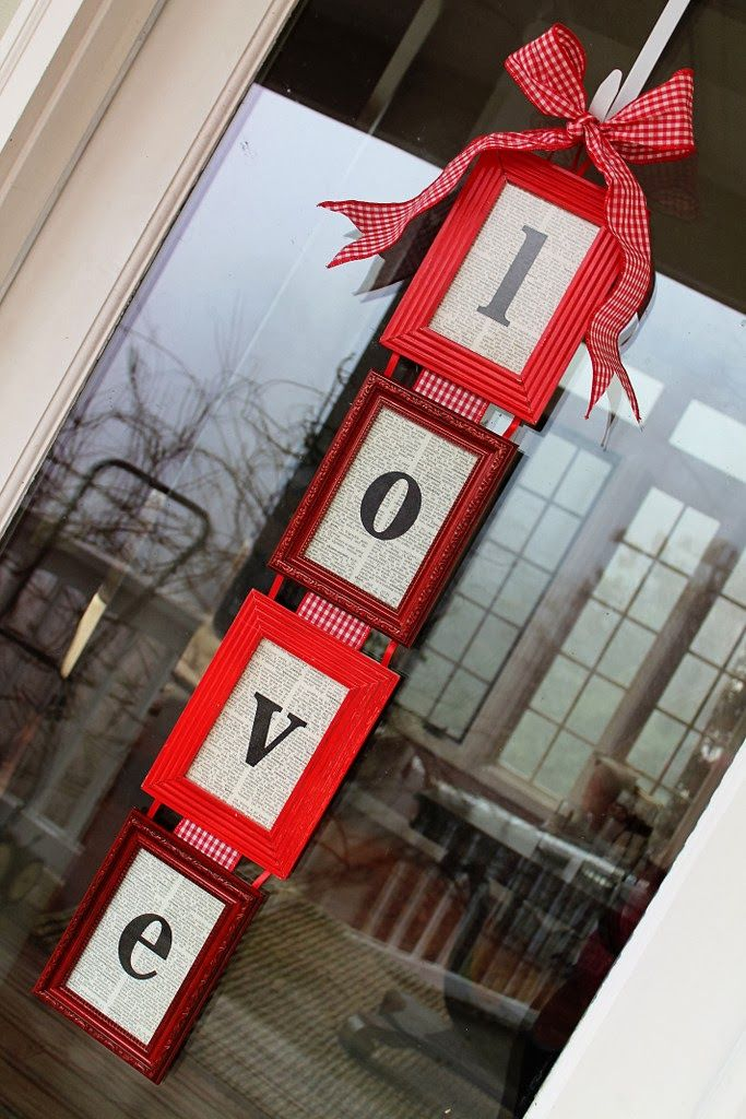 Yes it's for V day but perhaps a wedding idea for pics of us or something... DIY Valentines Day Door Hanger tutorial