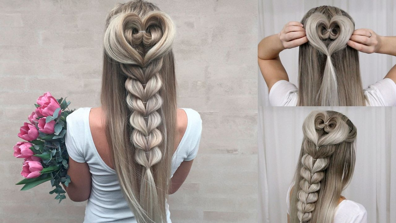 Heart Braid Combo Tutorial DIY - Perfect for Prom, Valentine ...