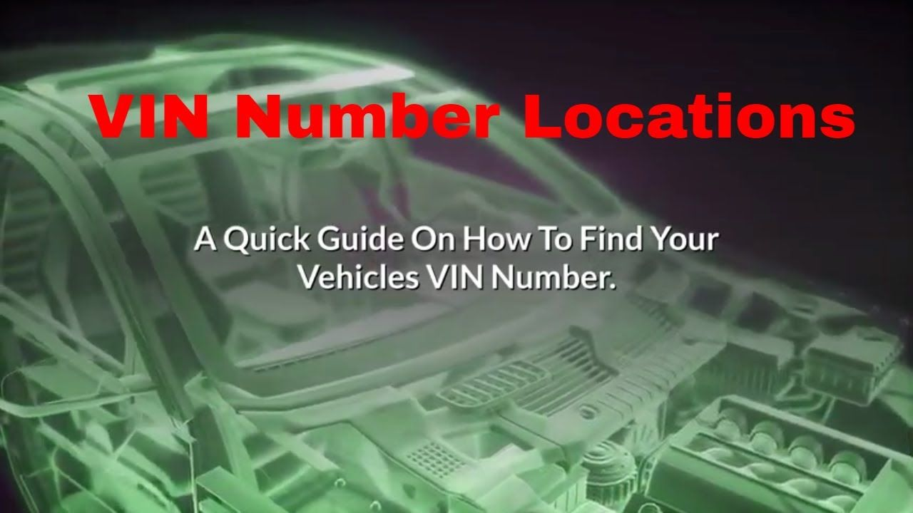 How To Find And Check Your Vin Number On Your Car Vehicle