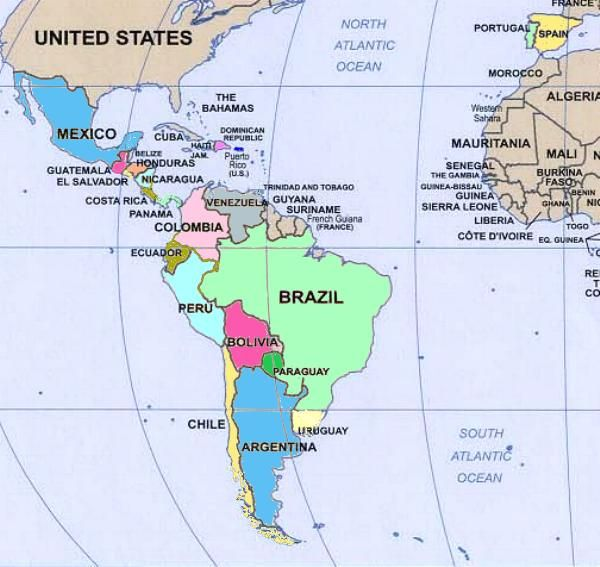 Map Of Central America Learn Spanish With Online Trainers Www - United states map in spanish