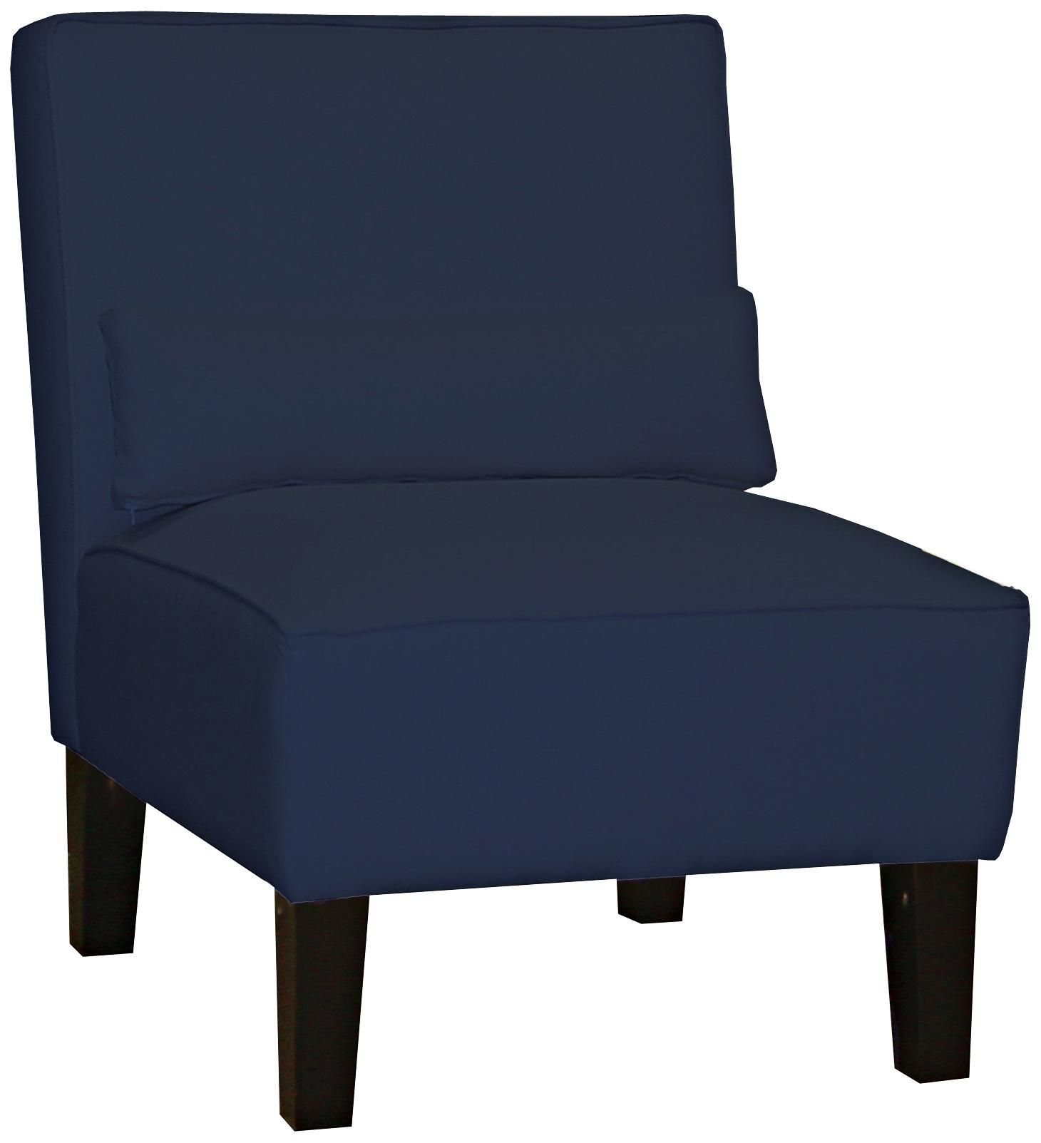 Navy twill armless chair living room pinterest living room