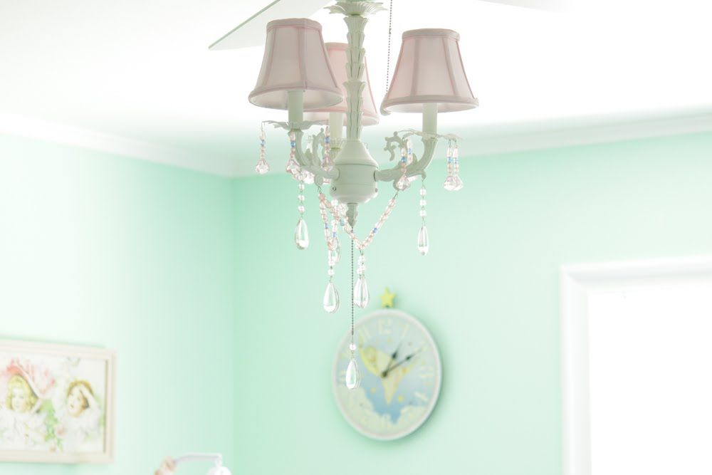 Girls chandelier ceiling fan light kit by adding chandelier girls chandelier ceiling fan light kit by adding chandelier style ceiling fan mozeypictures Choice Image