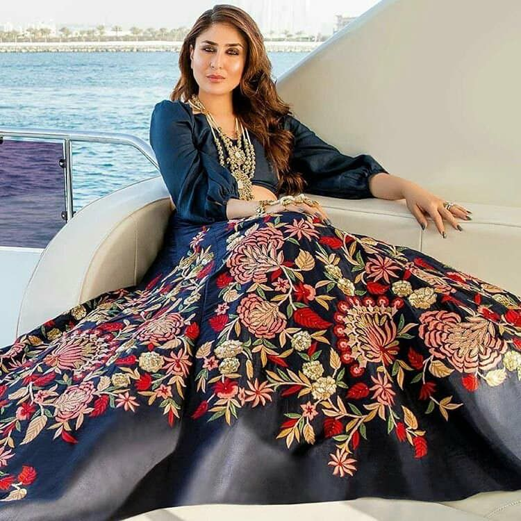 5c9fc67fd8 Kareena Kapoor Khan Sizzles in Tena Durrani Bridal Wear Tena designed a  bespoke three-piece collection for the throw, which took place aboard a  luxury yacht ...