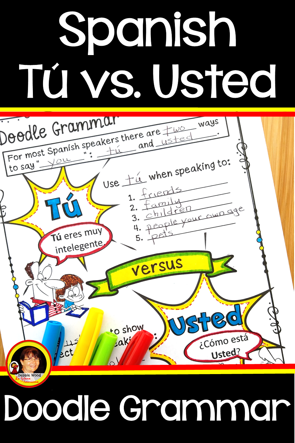 Spanish Tu Vs Usted Spanish Subject Pronouns Good Grammar Homeschool Spanish Spanish Grammar