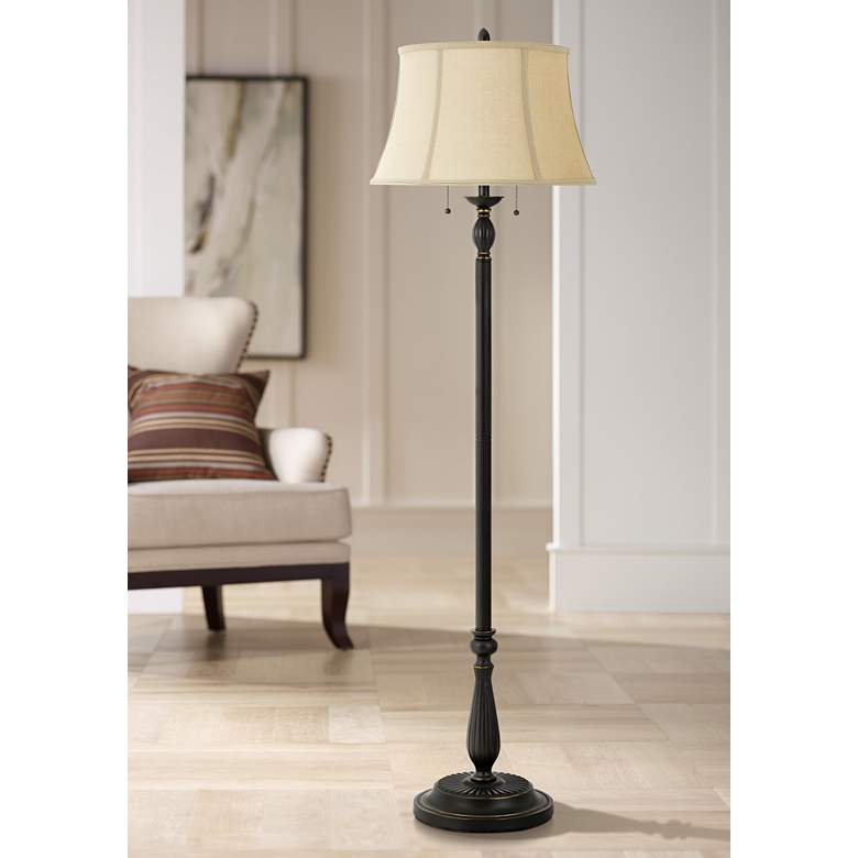 Pin by Kay Smith on living room Bronze floor lamp