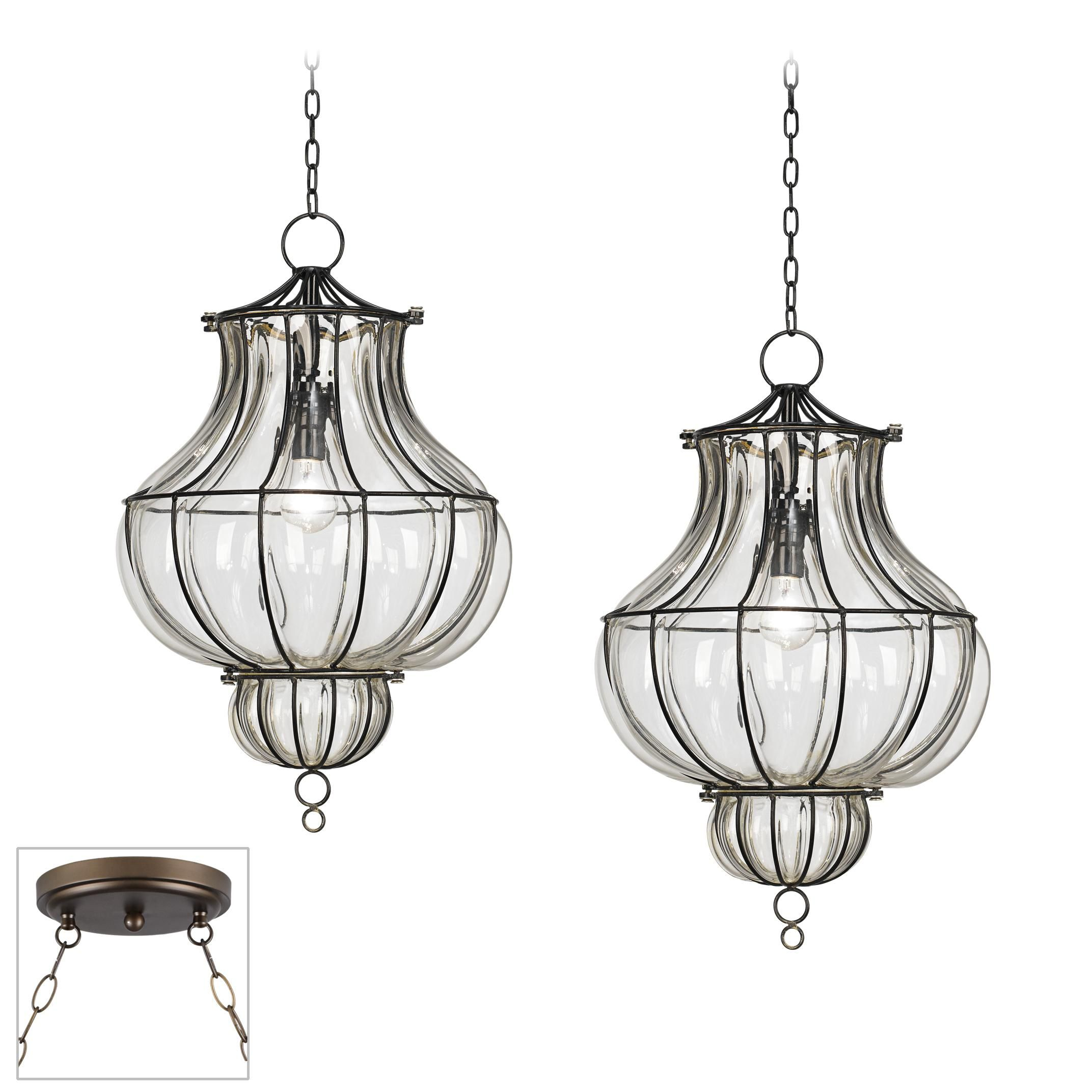 Double swag lantern chandelier Living Room Project