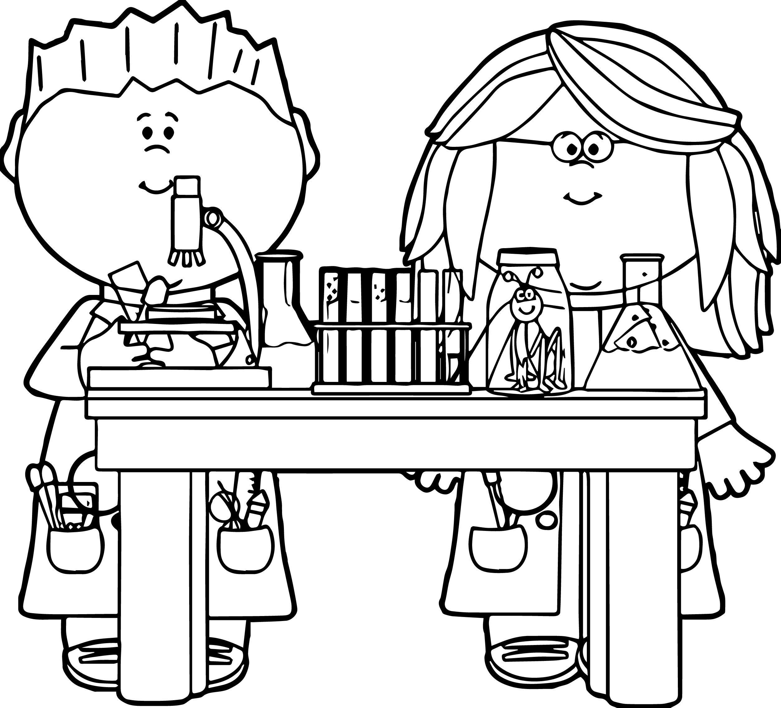 kids in science class clip art kids in science class vector image kids we coloring page - Scientist Coloring Pages Print