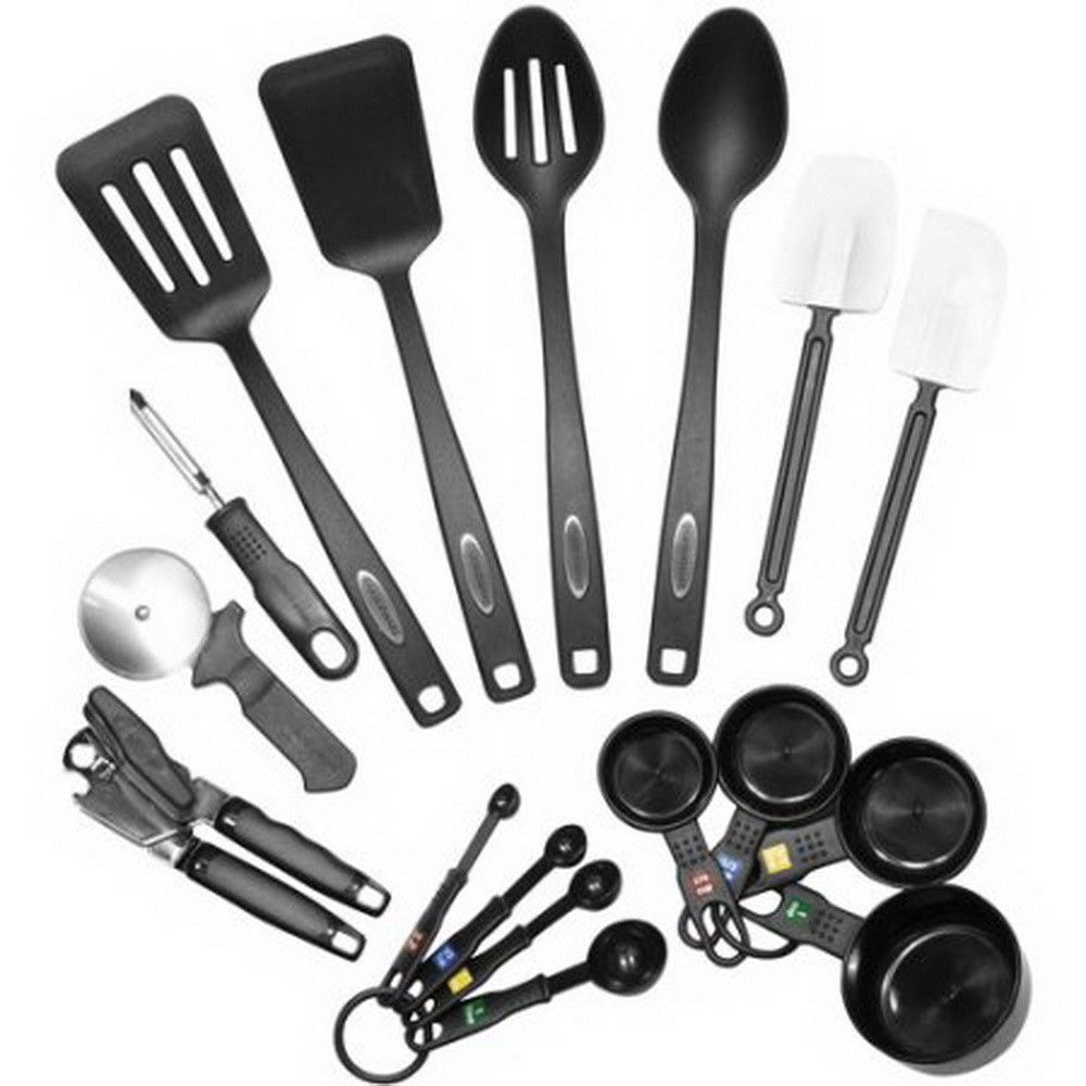 Set 17pcs Kitchen Tools Gadgets Cooking Utensils Turner Spoons Cutter Opener Cup Farberware Kitchen Tool Set Utensil Set Kitchen Cooking Utensils