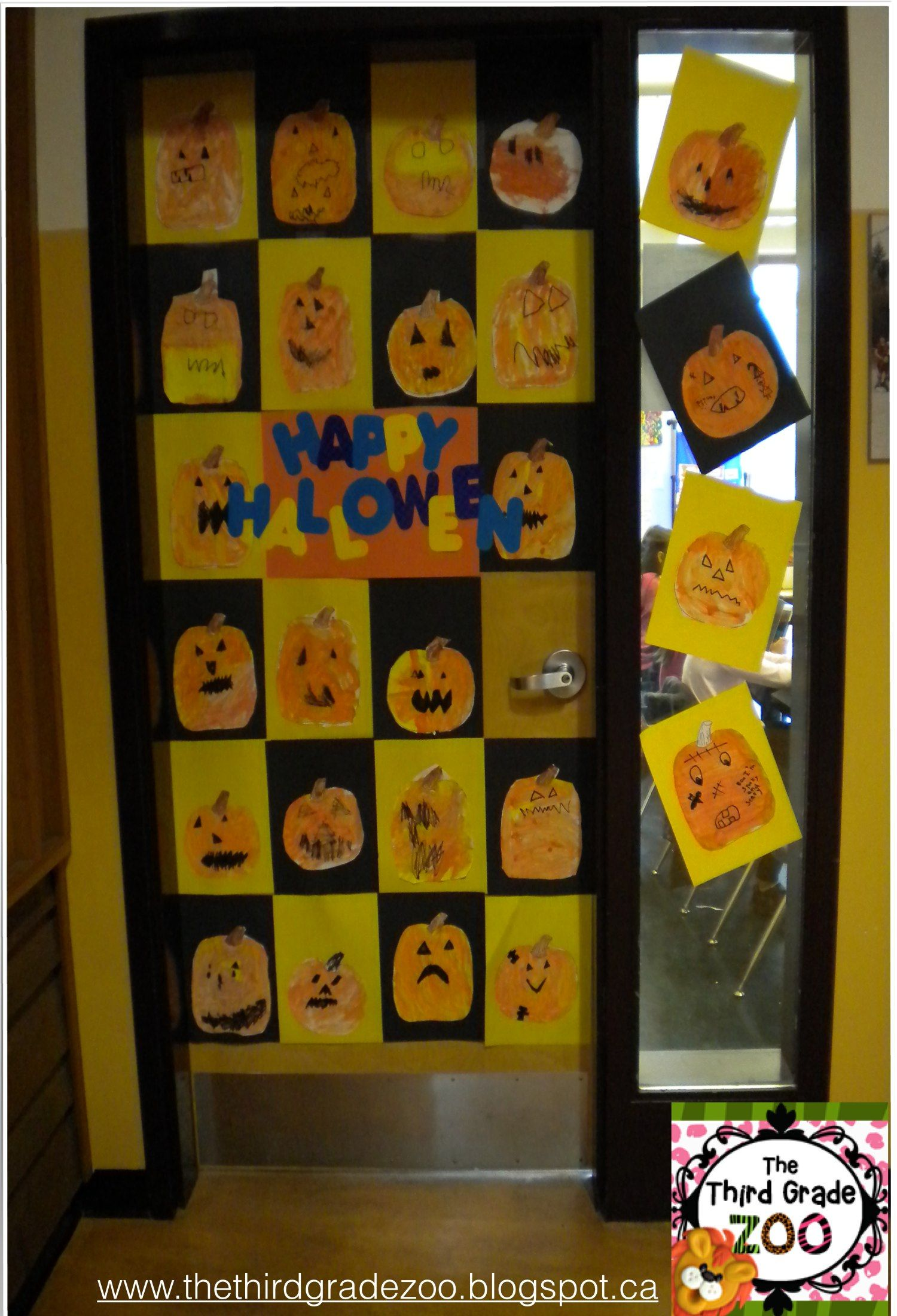 Check out this blog post from The Third Grade Zoo about school wide - Halloween Office Door Decorating Contest Ideas