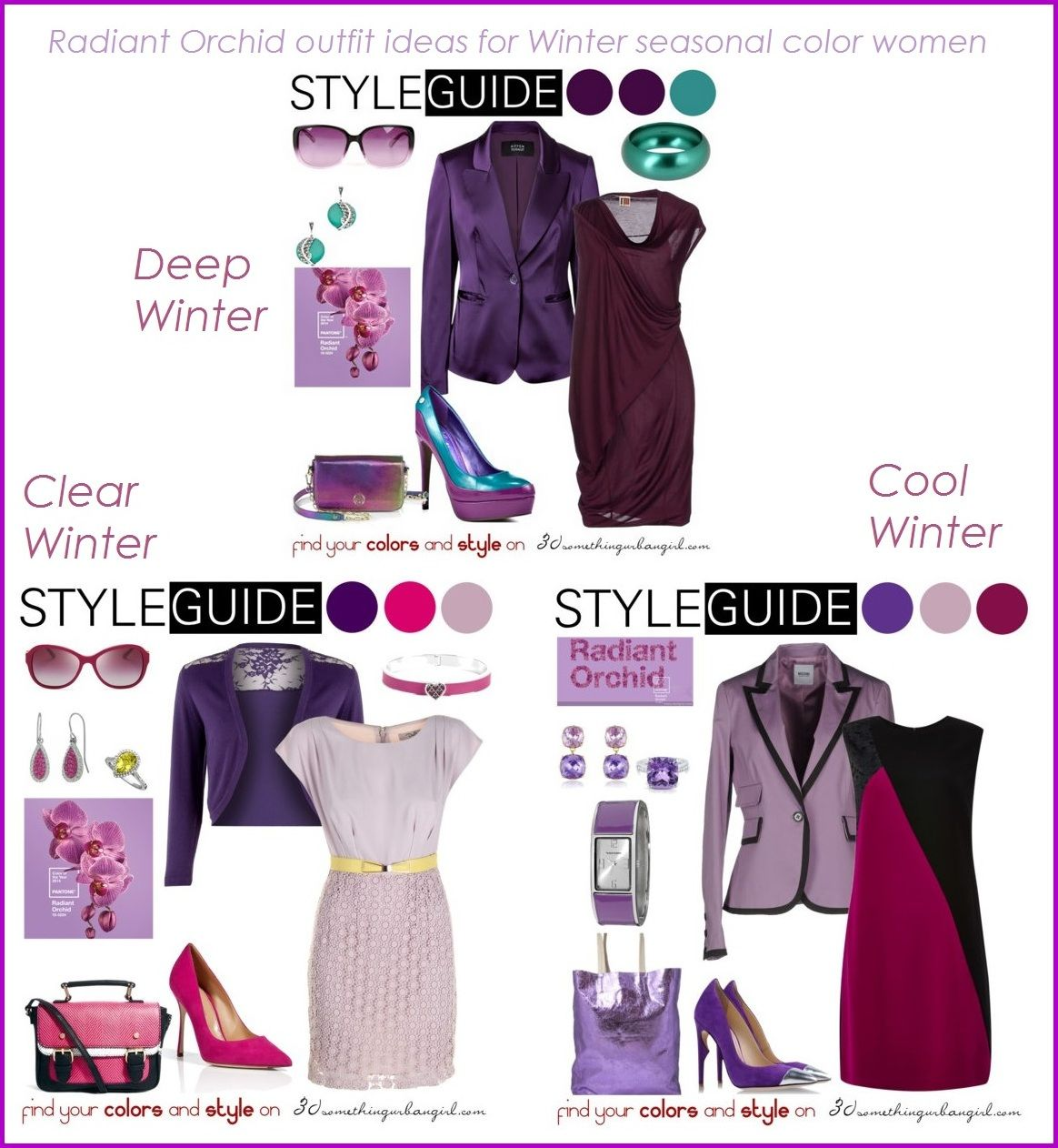 e9b48d3e4ff9 Radiant Orchid outfit ideas for every seasonal color women