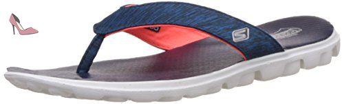 Skechers  on-the-GOFlow, Mules femme - Bleu - Bleu marine, 38 - Chaussures skechers (*Partner-Link)