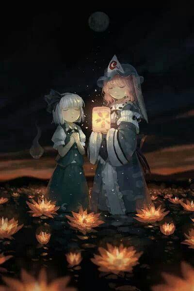 yuyuko and sayaka touhou by seeker アートのアイデア アニメーションアート イラスト