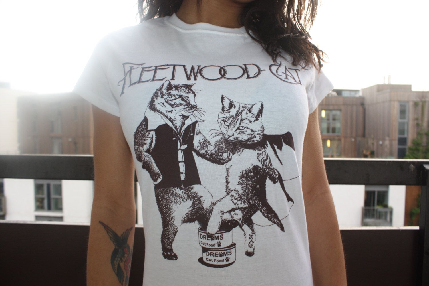 fleetwood cat - fleetwood mac rumours tribute t shirt with kittens - exclusive to us - hand drawn art work limited screenprint run by JackalopeClothing on Etsy https://www.etsy.com/listing/172934161/fleetwood-cat-fleetwood-mac-rumours