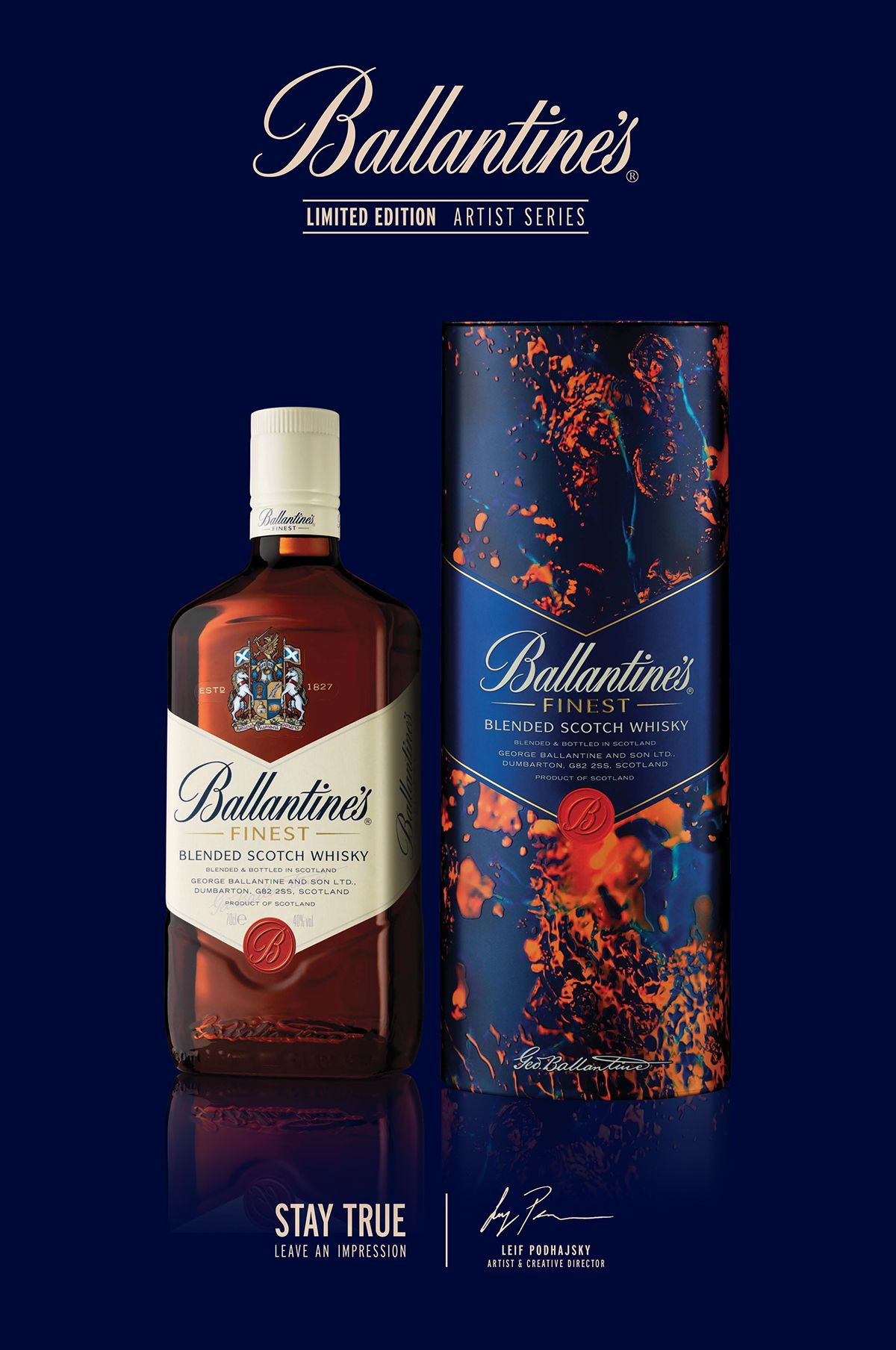 Ballantine S Whisky Artist Series On Behance With Images