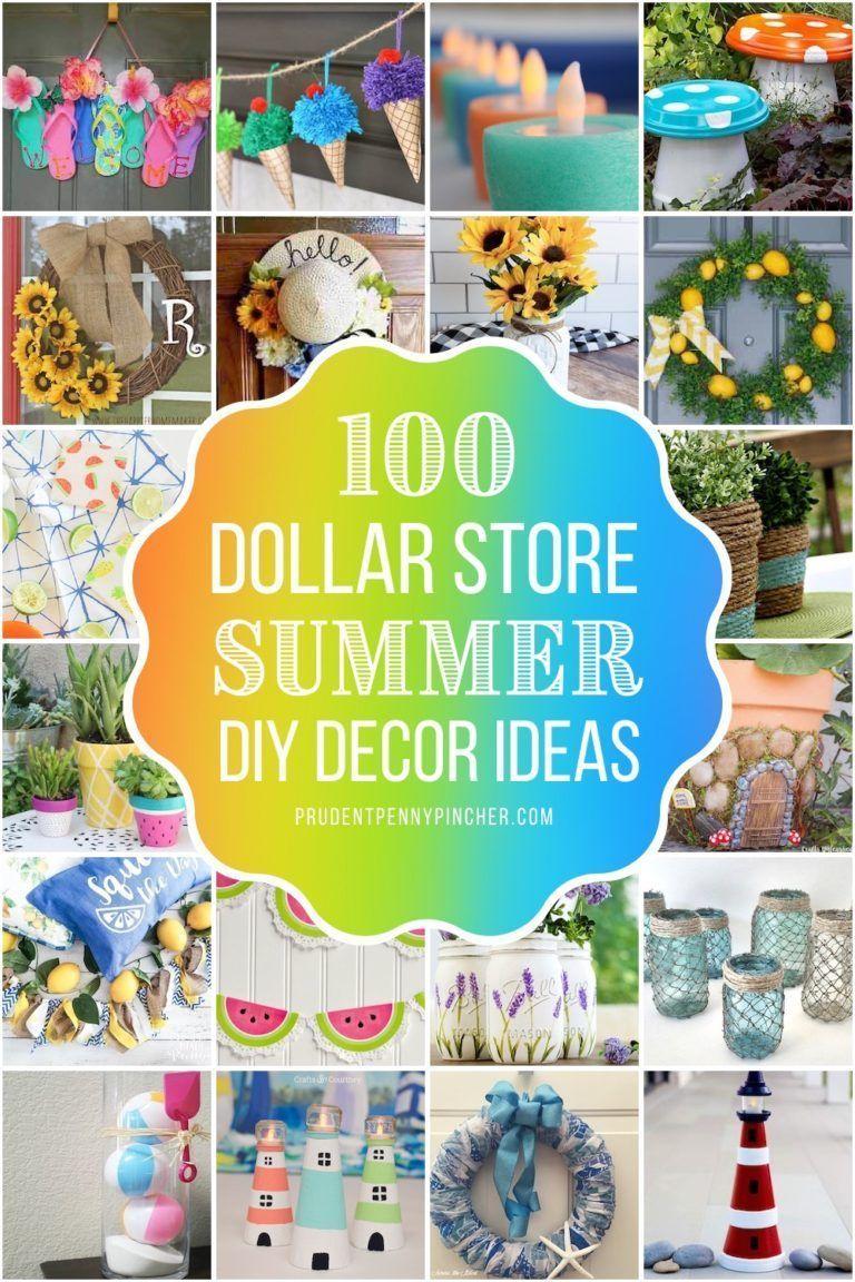 15 Dollar Store DIY Summer Decor Ideas #summer diy decorations