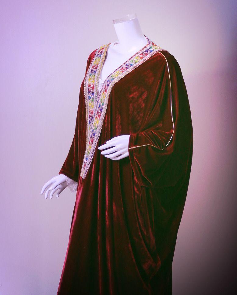 عبائة من المخمل الناعم عبابات منزلية دشاديش جلابيات مخمل قمصان عباية Moroccan Dress Fashion Kimono Top