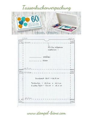 Anleitung Tassenkuchenverpackung Verpackung Schachteln Basteln Anleitungen