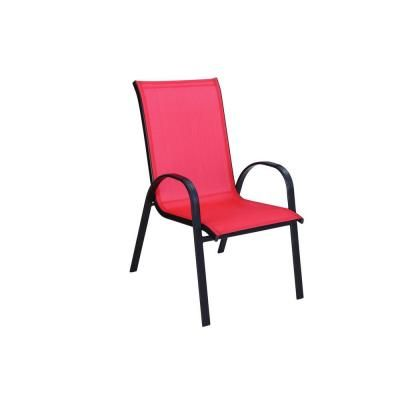 Navona Red Sling Patio Chair Fcs00015j Red The Home Depot The