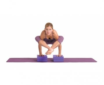 yogamad yoga blocks  for use as cushioning in inversions