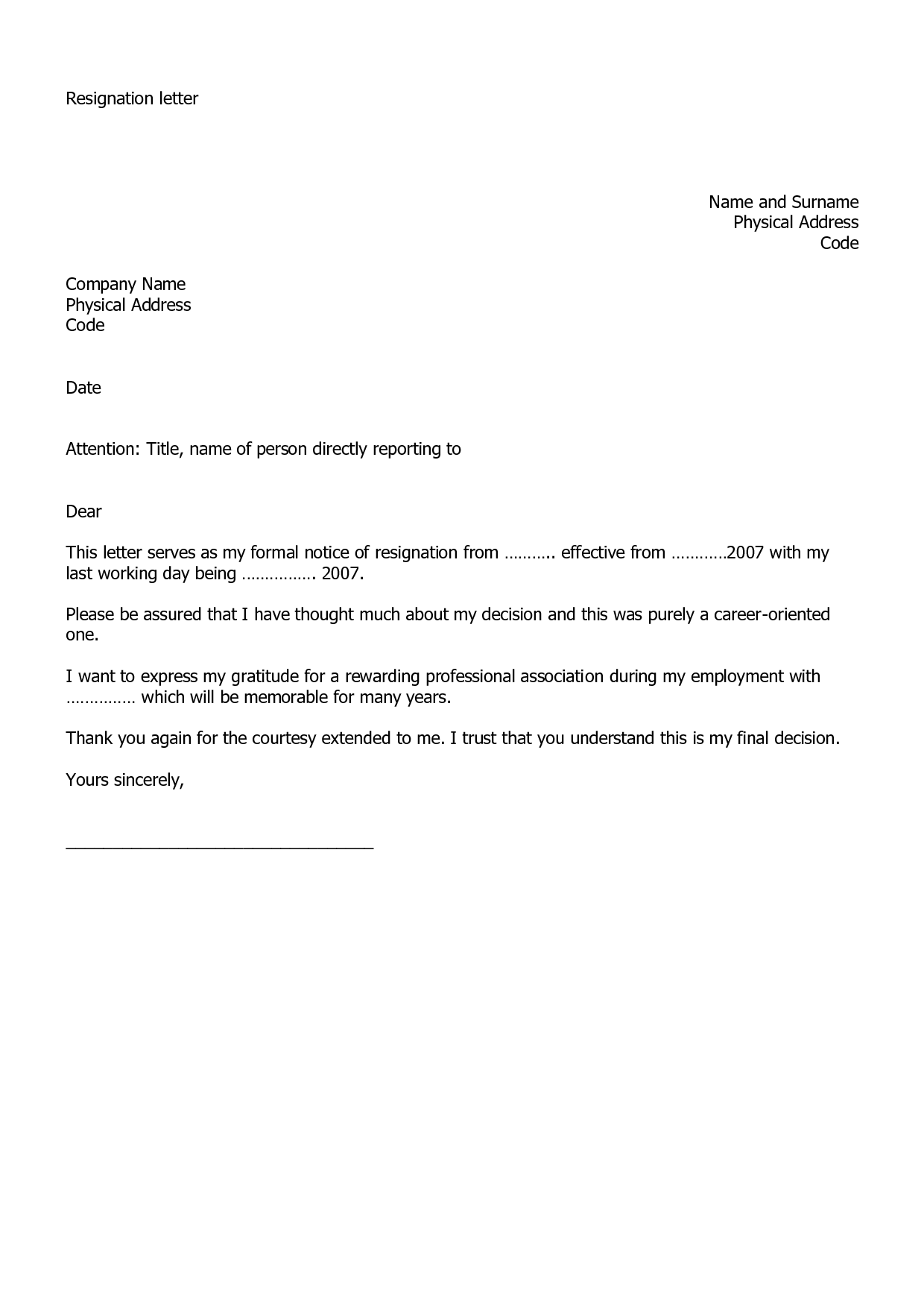 Resignation Letter Examples | Masks | Pinterest | Resignation ...