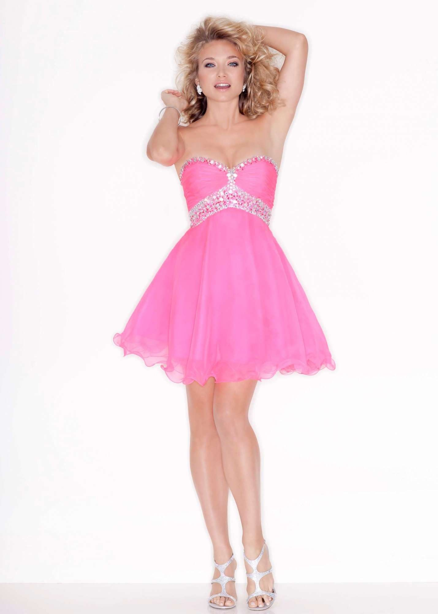 Sticks u stones by mori lee sexy party dress cute and pink