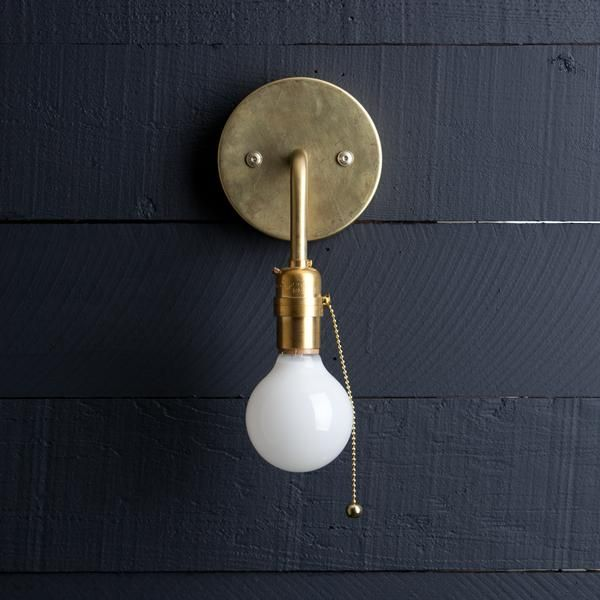 Brass Wall Sconce Pull Chain Brass Wall Sconce Unique Wall Sconce Sconces