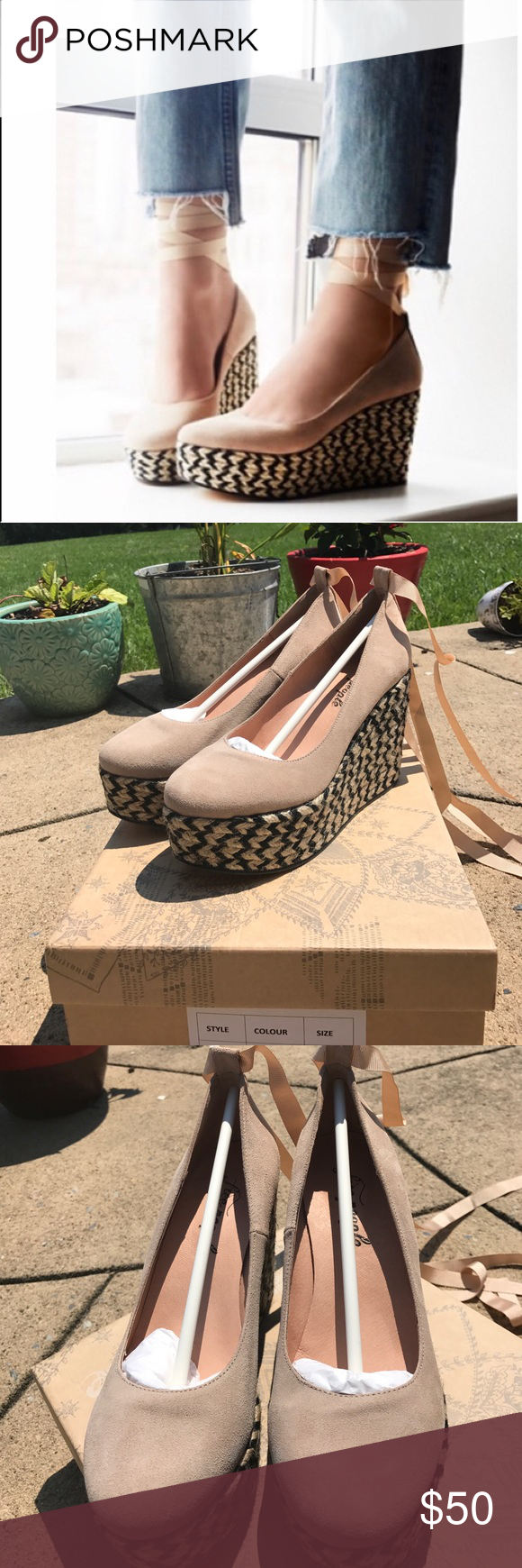 3ff0276265 FP NIB charade wedge Reposh- free people charade espadrille wedges new in  box. They