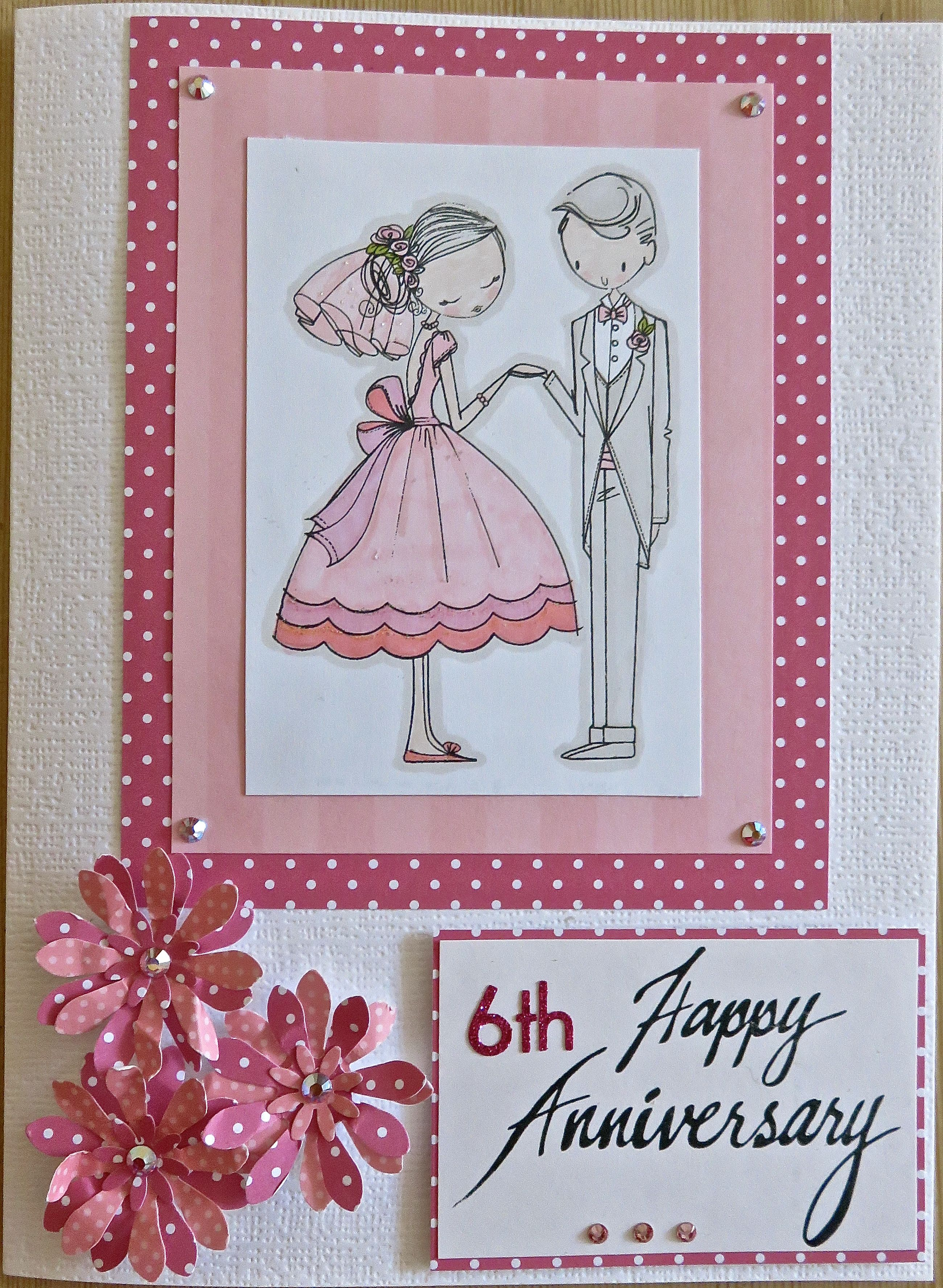 6th Wedding Anniversary Card for my daughter