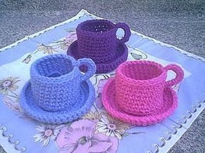 Christine's Crocheted Teacup By Christine M. Freeman - Free Crochet Pattern - (christinesflowers)
