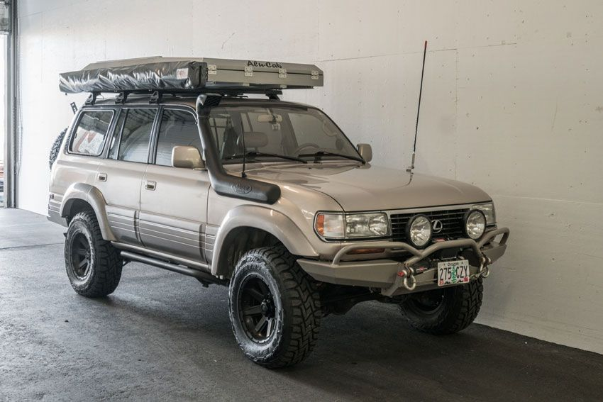 Alu Cab Expedition Series Iii Rooftop Tent And Shadow Awning On A Landcruiser Adventure Ready Land Cruiser Cab Roof Top Tent