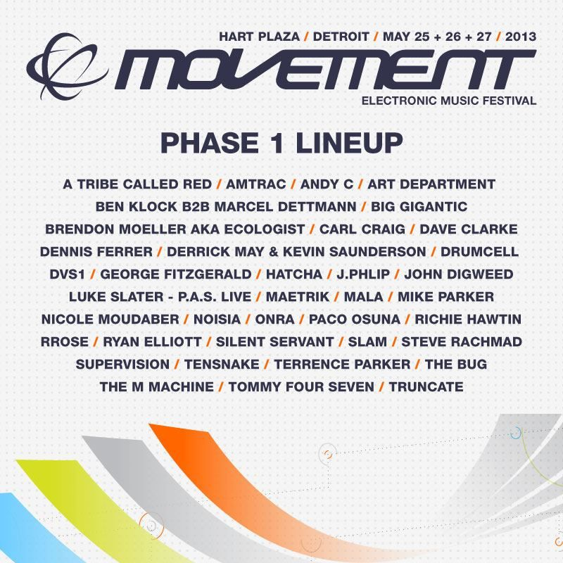 Demf 2013 Lineup Movement 2013 Lineup Electronic Music