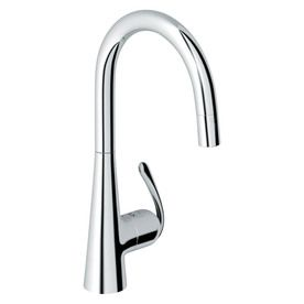 Grohe Ladylux Starlight Chrome 1-Handle Pull-Down Kitchen Faucet 32226