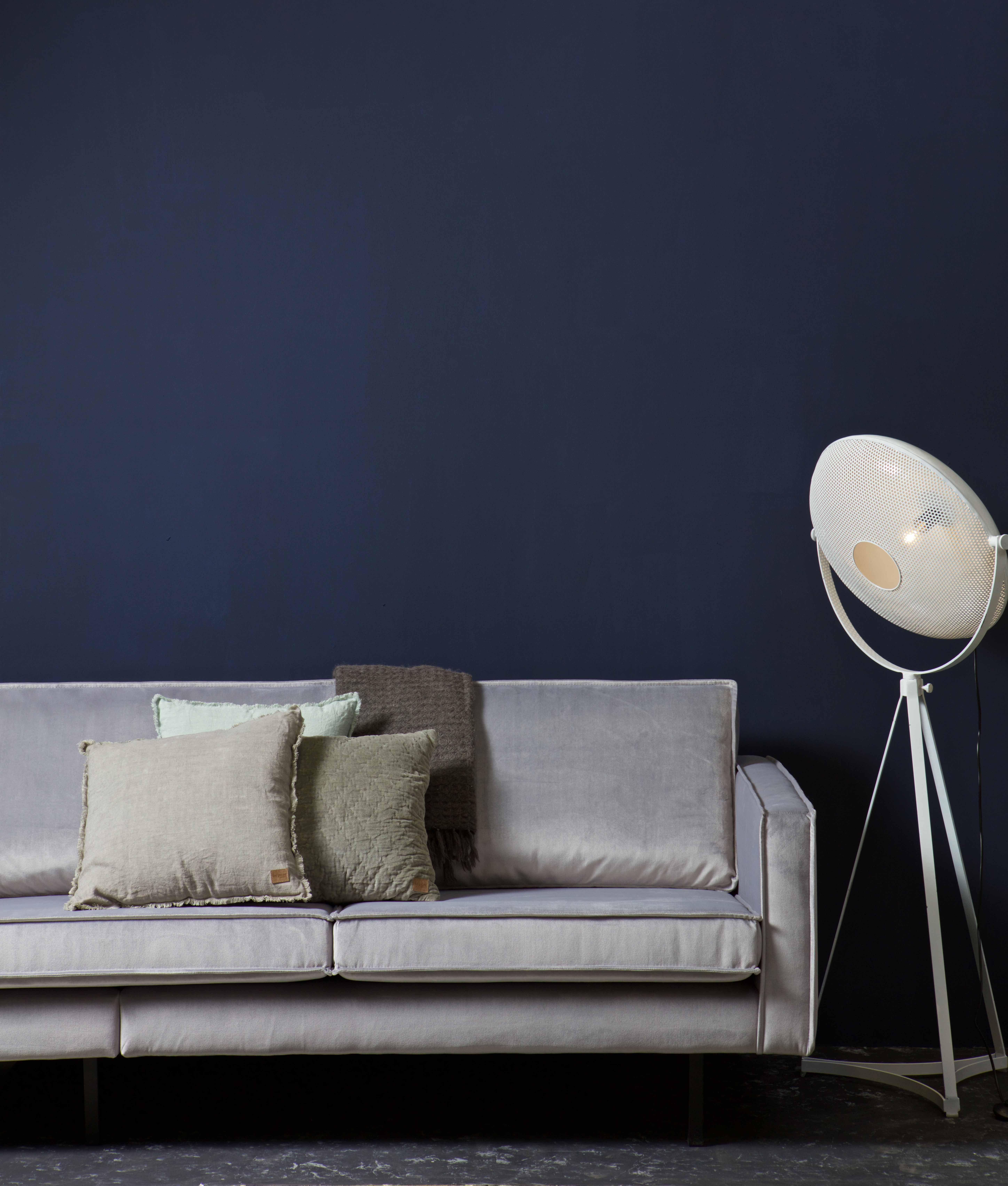 Our Rodeo Velvet sofa in the colour Light grey by BePureHome
