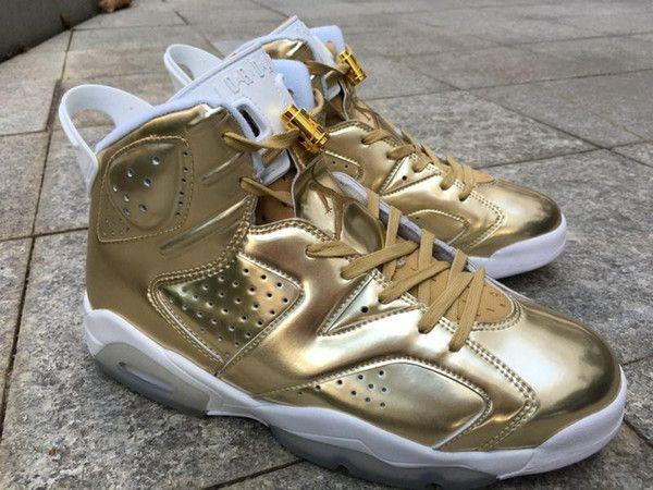 best sneakers eb6c1 c265f Nike Mens Air Jordan 6 Retro Pinnacle Metallic Gold White Leather Price    399.99 -  740.60  kicks  sneakers