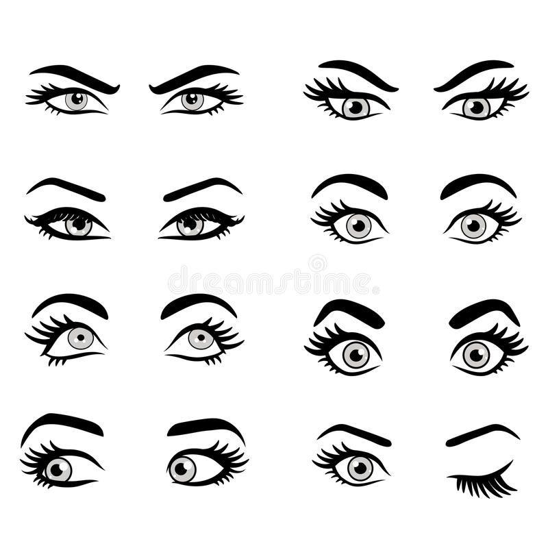 Set Of Cartoon Eyes Isolated Decorative Eyes Icons Vector Illustration Of Woma Sponsored Isolated Cartoon Eyes Cartoon Eyes Drawing Girl Eyes Drawing