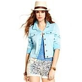 Jessica Simpson Juniors Jacket, Color-Wash Denim