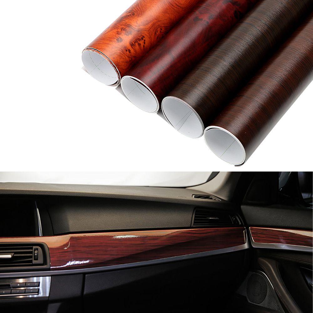 30x100cm Glossy Pvc Wood Grain Car Wrap Film Decal Wood Grain Textured Automobiles Internal Decorati Waterproof Furniture Car Interior Decor Wood Grain Texture [ 1000 x 1000 Pixel ]