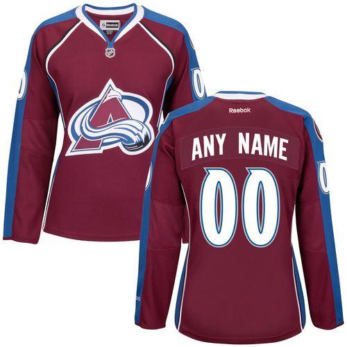 on sale c4085 ddf61 Women s Colorado Avalanche Maroon Premier Home Custom Jersey