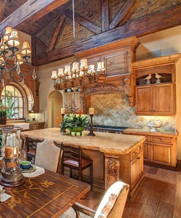 Tuscan Style Kitchen Cabinets: Mediterranean Kitchen Design