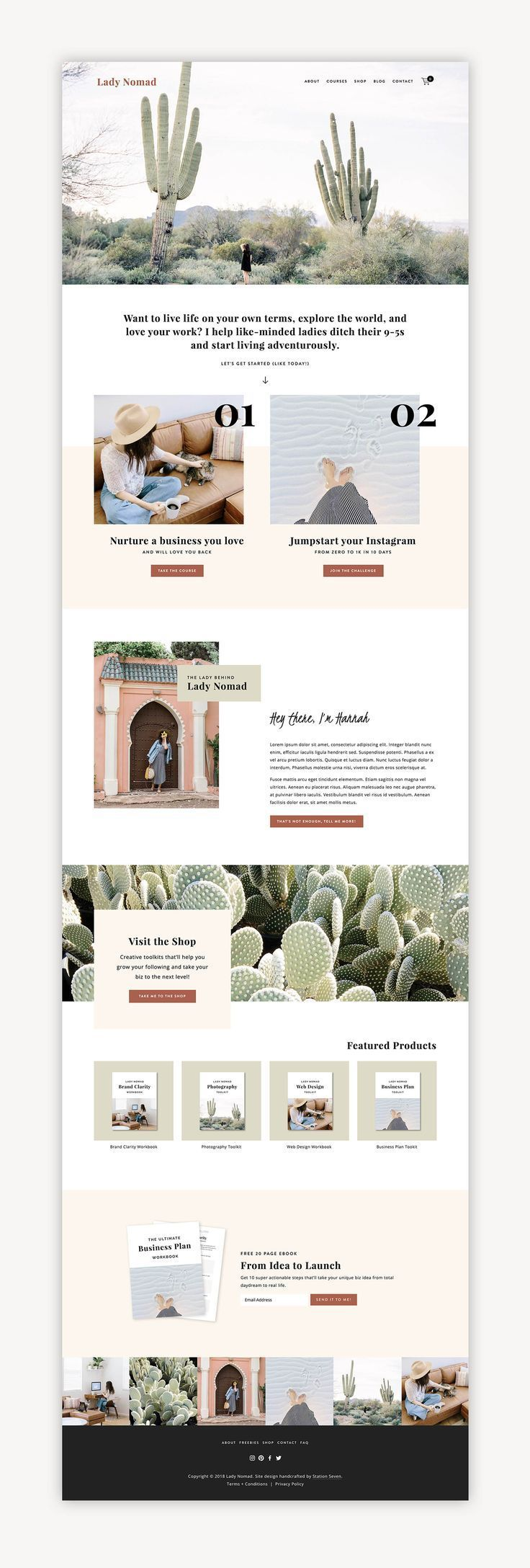 Lady Nomad Squarespace Kit Station Seven Squarespace Templates Wordpress Themes And Free Resources For Creative Entrepreneurs Web Layout Design Website Design Layout Website Design Inspiration