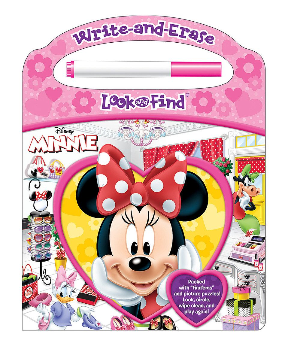Love this Look & Find Minnie Write & Erase Book by Mickey Mouse & Minnie Mouse on #zulily! #zulilyfinds