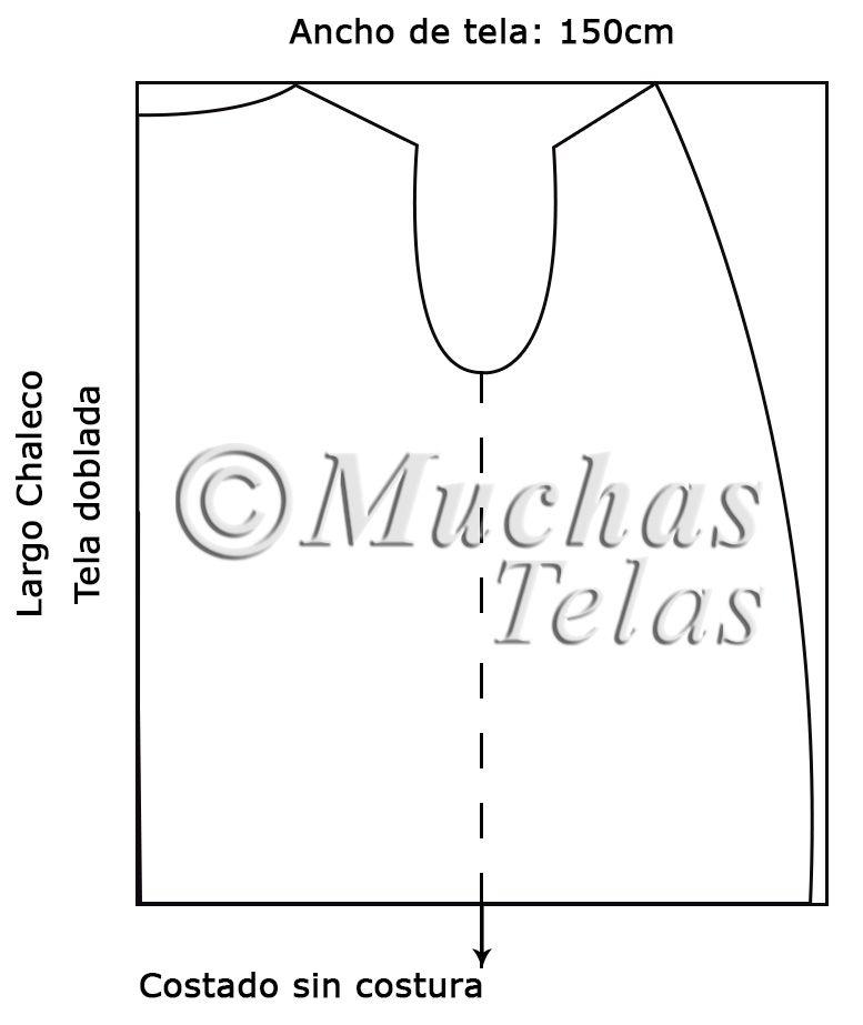 Cómo hacer un chaleco - Blog de Muchas Telas | Moldes para costura ...