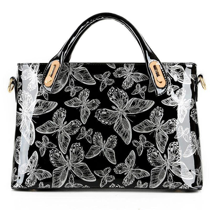 YANXI Factory Outlet Butterfly Patent Leather Shoulder Vintage Handbag Hard  Messenger Women Bag Designer Handbags High Quality fdd61511b0504