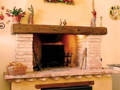 Camini Rustici In Mattoni : Caminetto a legna rustico mattoni caminetti home decor home e